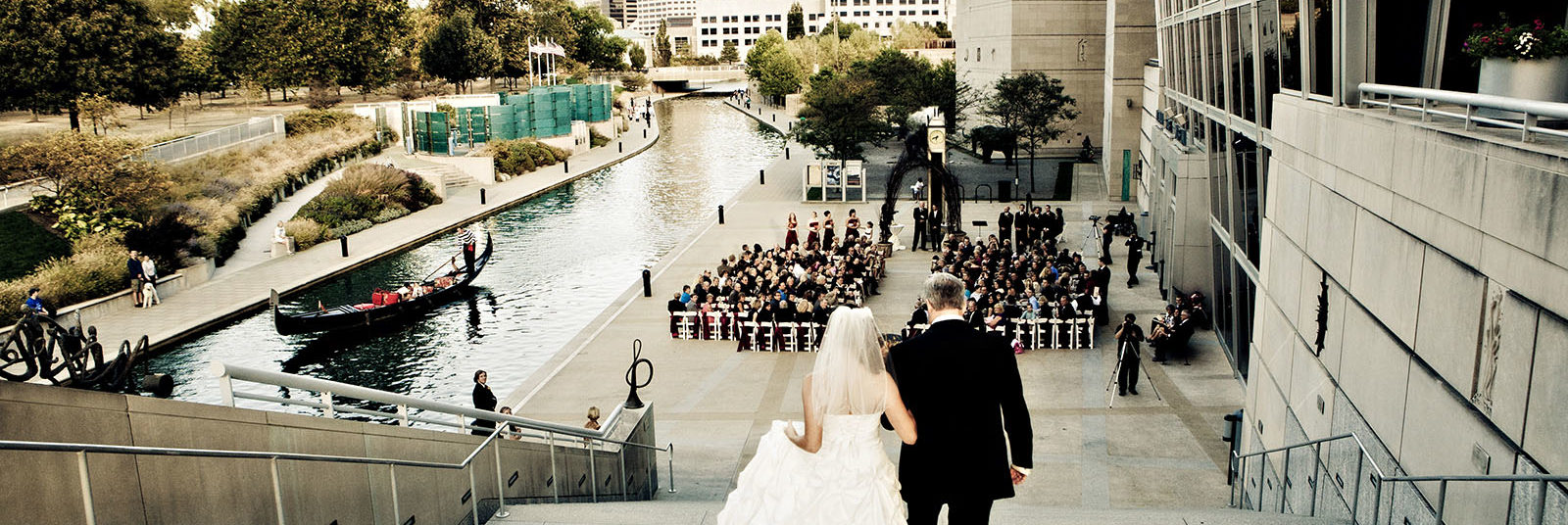 Wedding Ceremony on the Canal
