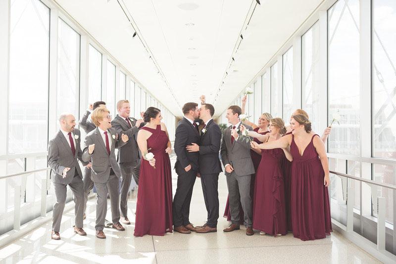Wedding on the Canal Overlook Bridge