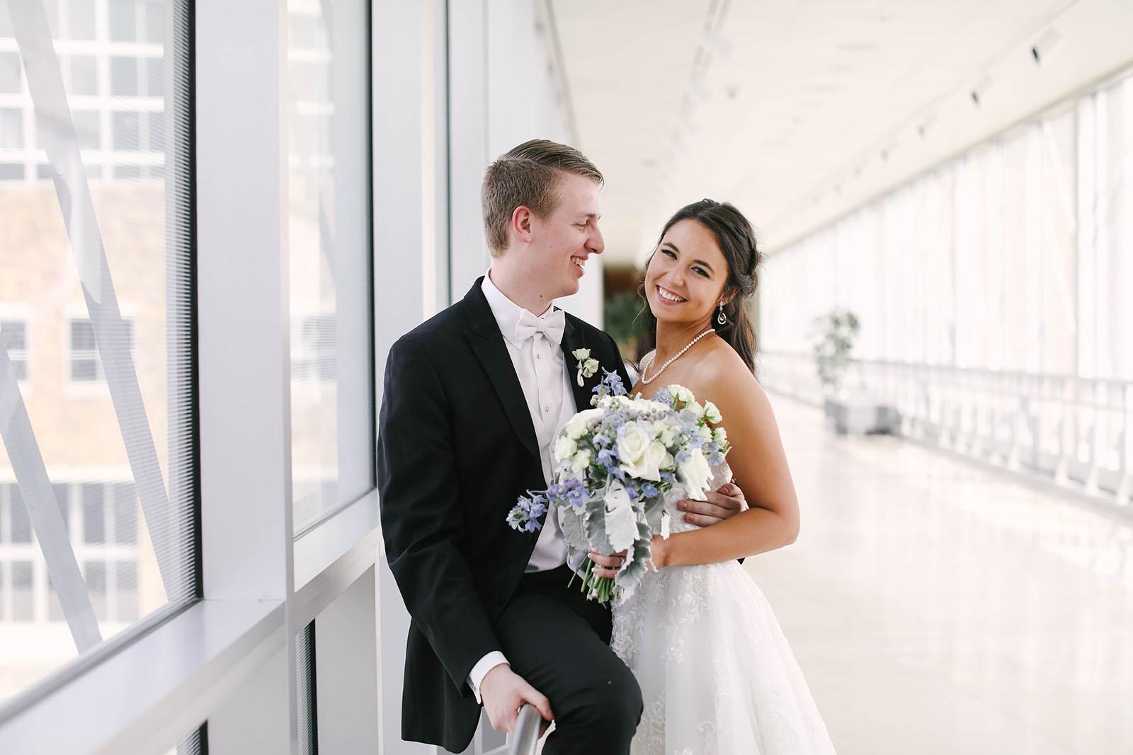 Wedding Photos on the Canal Overlook Bridge