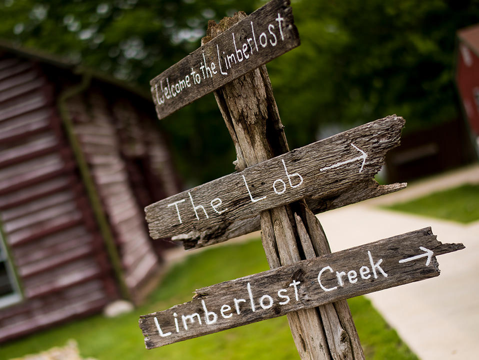 Directional Signage at Limberlost