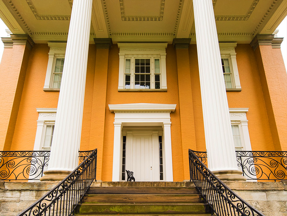 Front Steps of Lanier Mansion