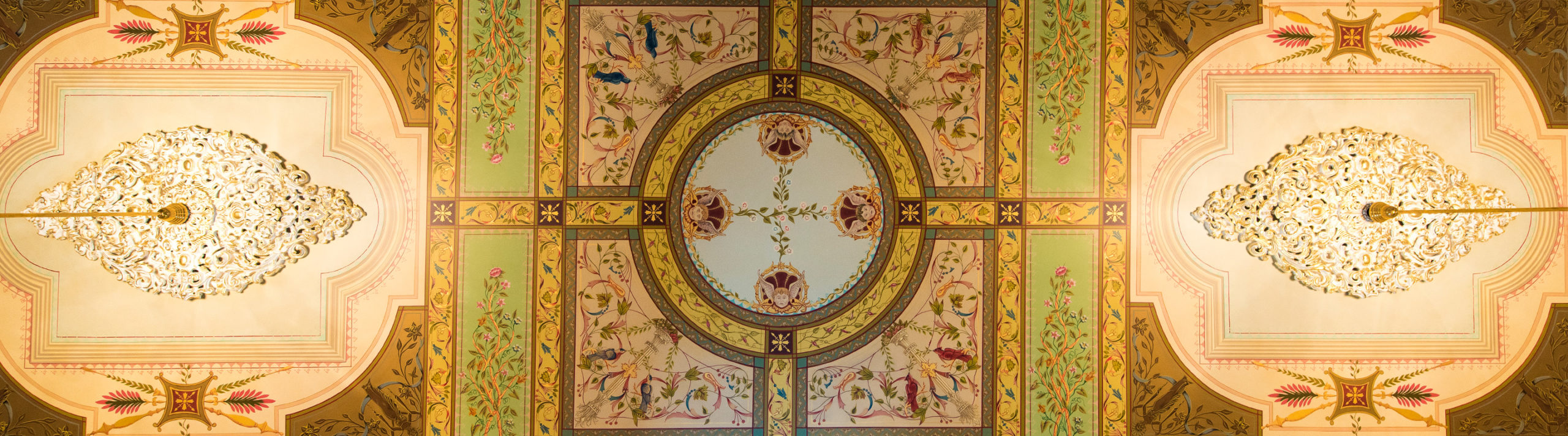 Ceiling Detail at Culbertson Mansion