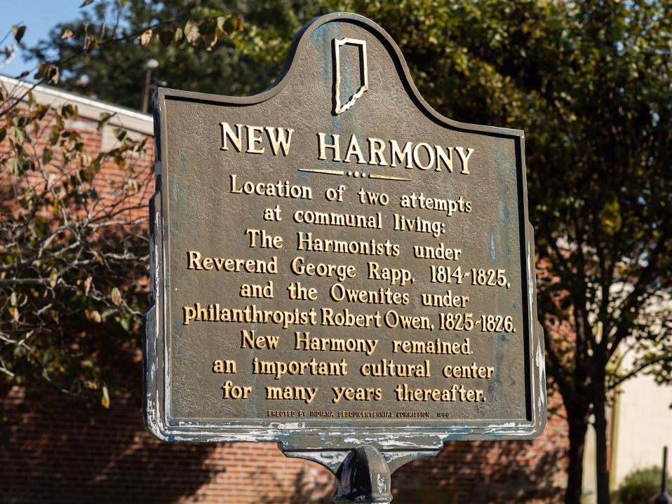 New Harmony Historic Marker