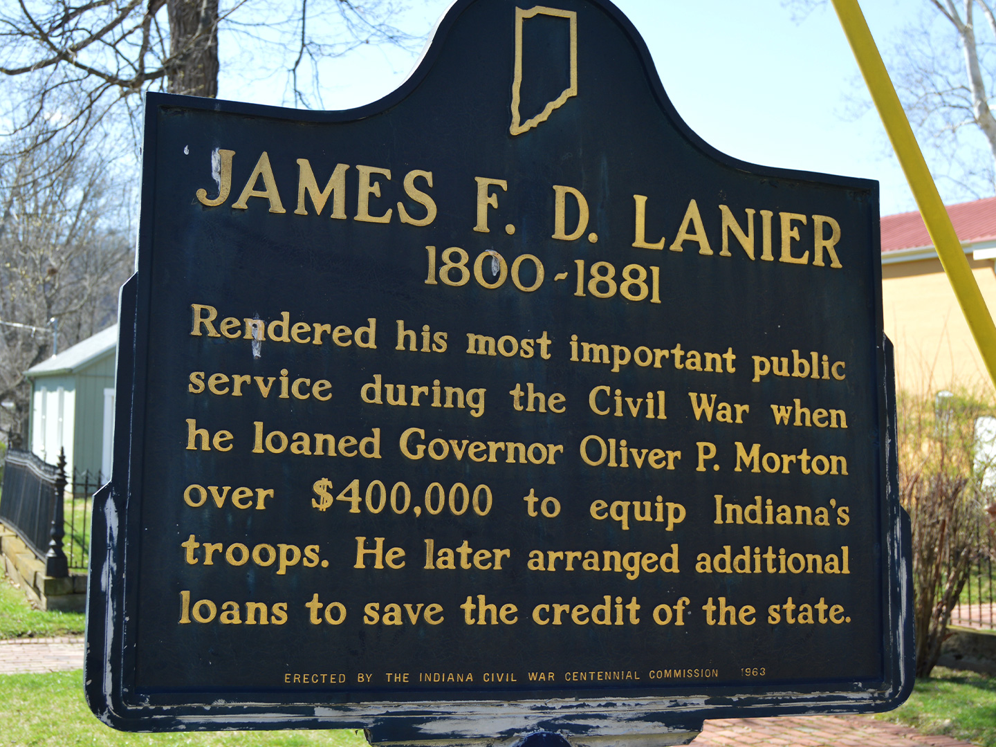 James F.D. Lanier Historical Marker