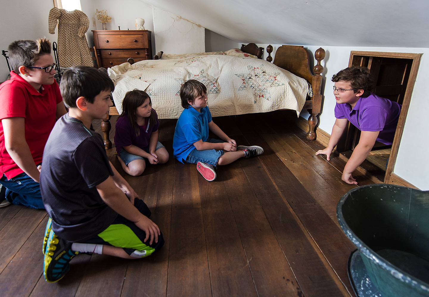 Children Exploring Coffin House