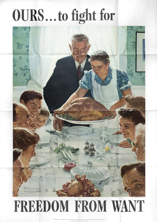 One of the Four Freedoms Posters