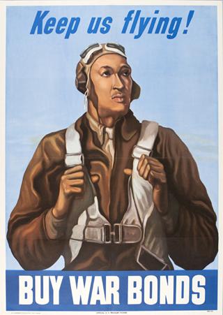 World War 2 Keep Us Flying Poster