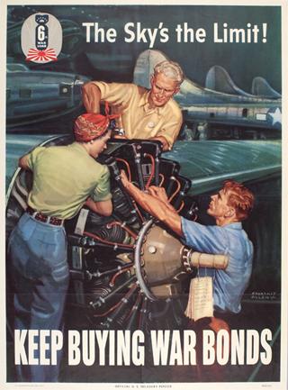 World War 2 Sky's the Limit Poster