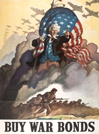 World War 2 Uncle Sam Poster