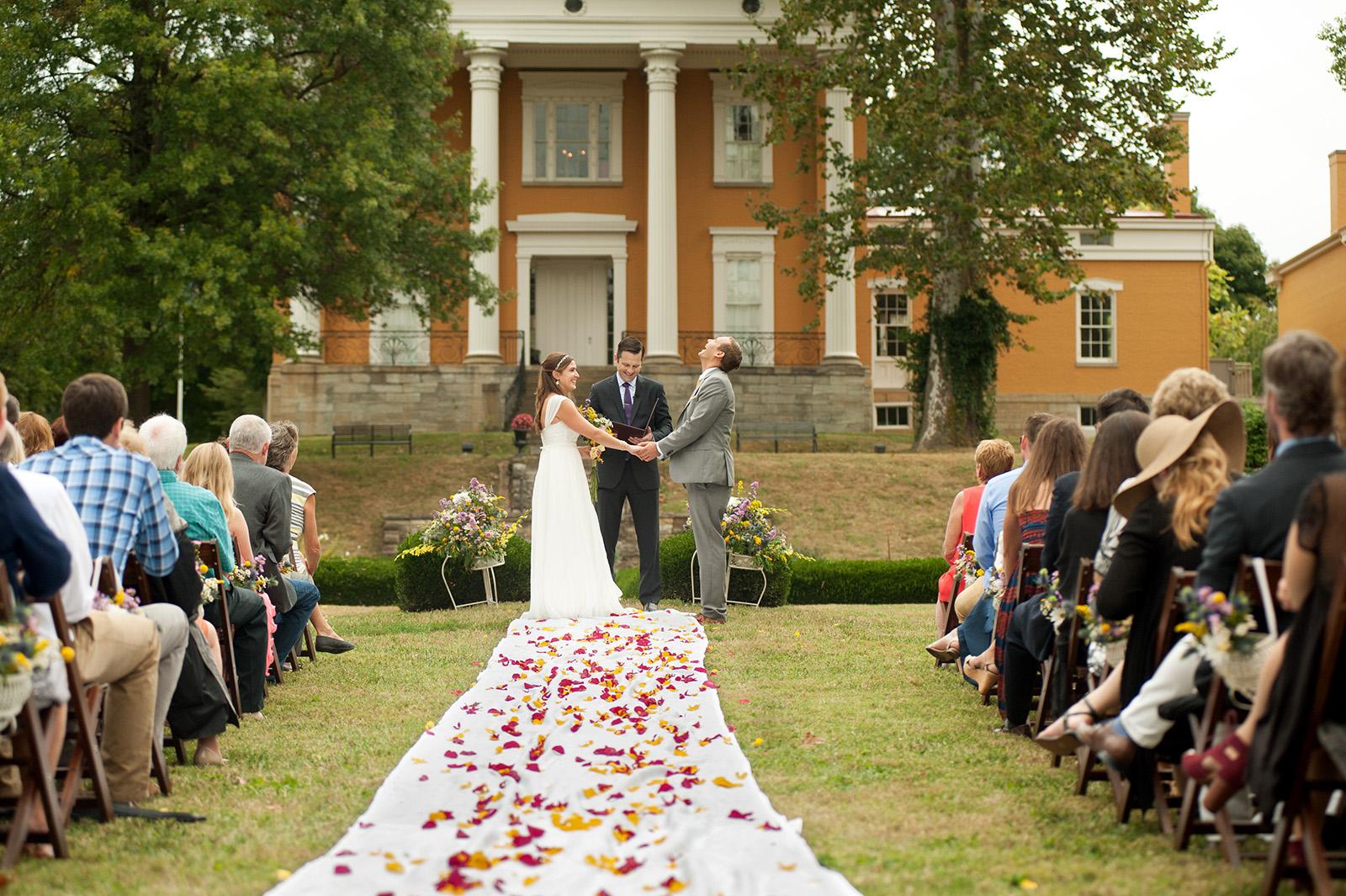 Wedding Ceremony at Lanier Mansion