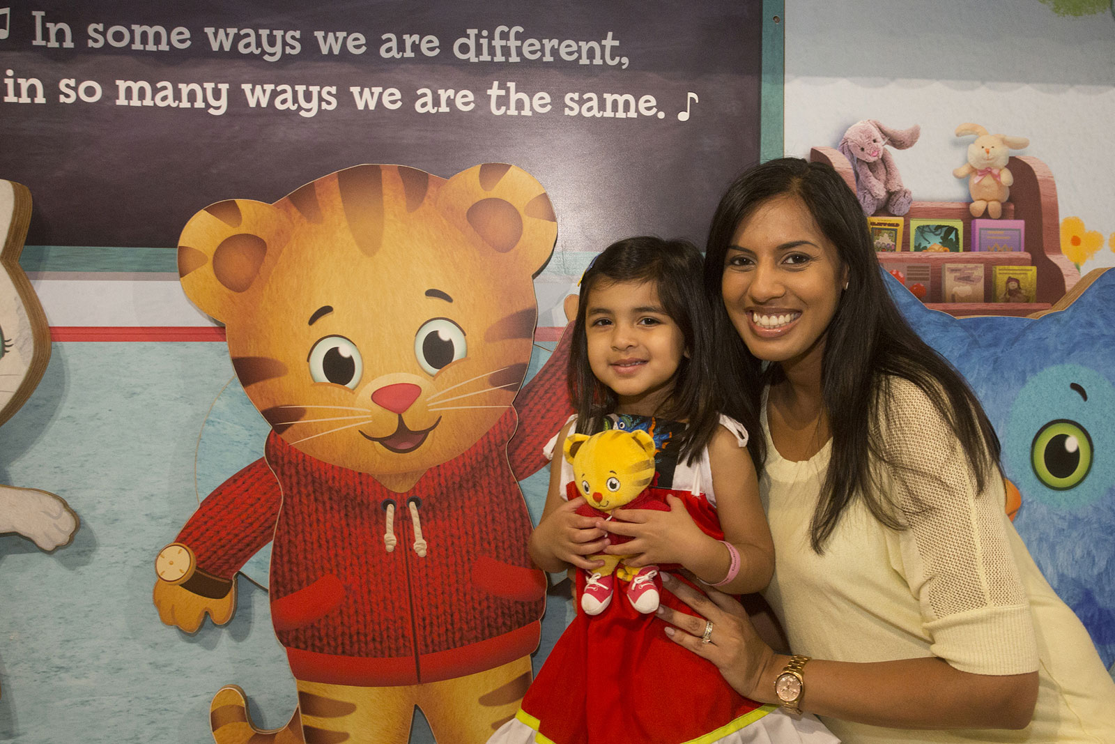 Guests Interacting with the Daniel Tiger Neighborhood