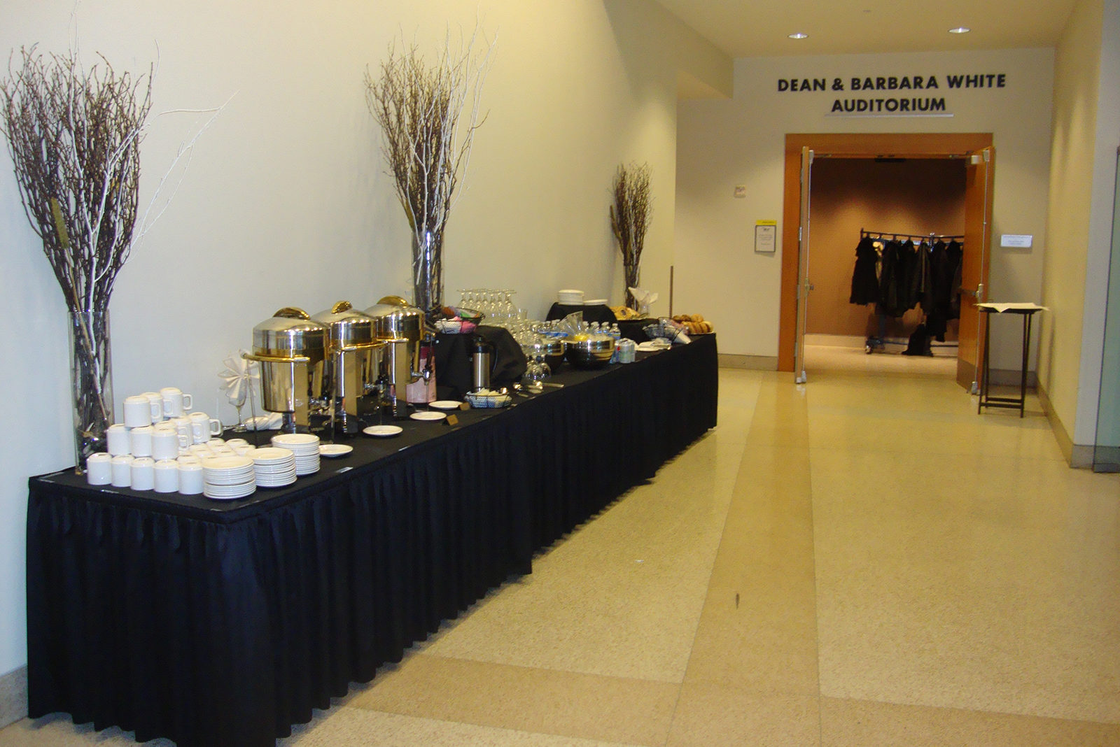Dean and Barbara White Auditorium Enterance