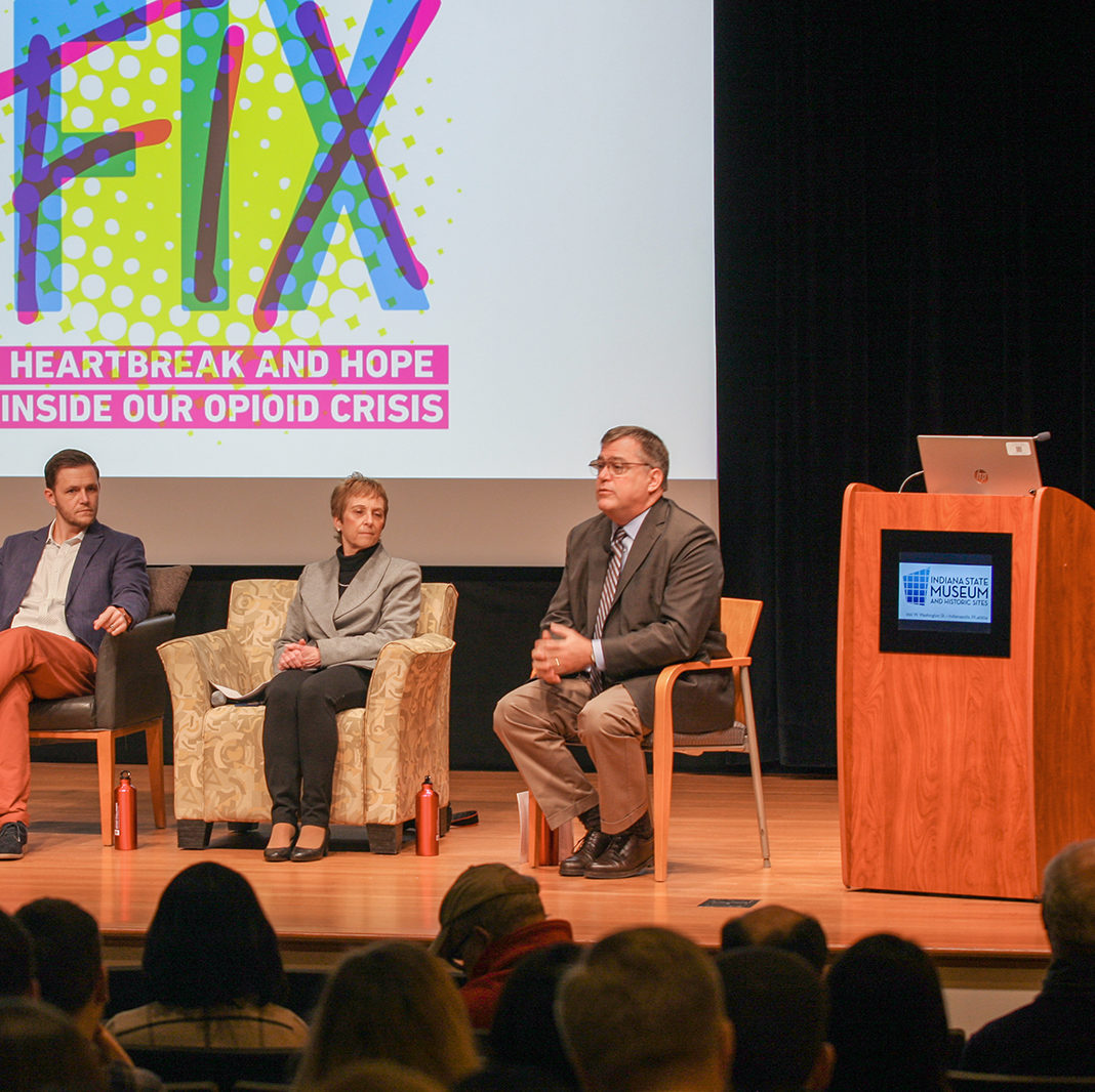 Speaker Panel in the Dean and Barbara White Auditorium
