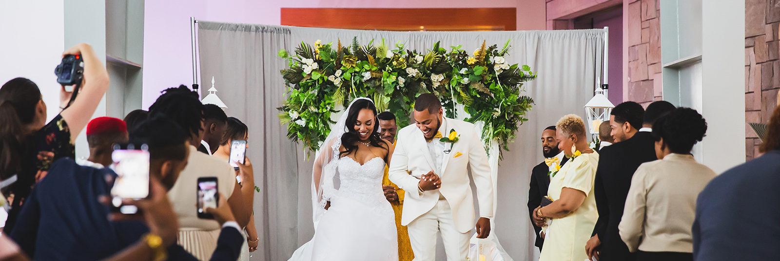 Wedding Ceremony in Rapp Reception Hall