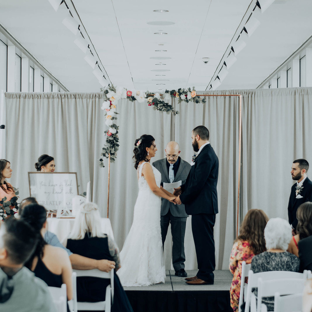 Wedding Ceremony in the Rapp Reception Hall