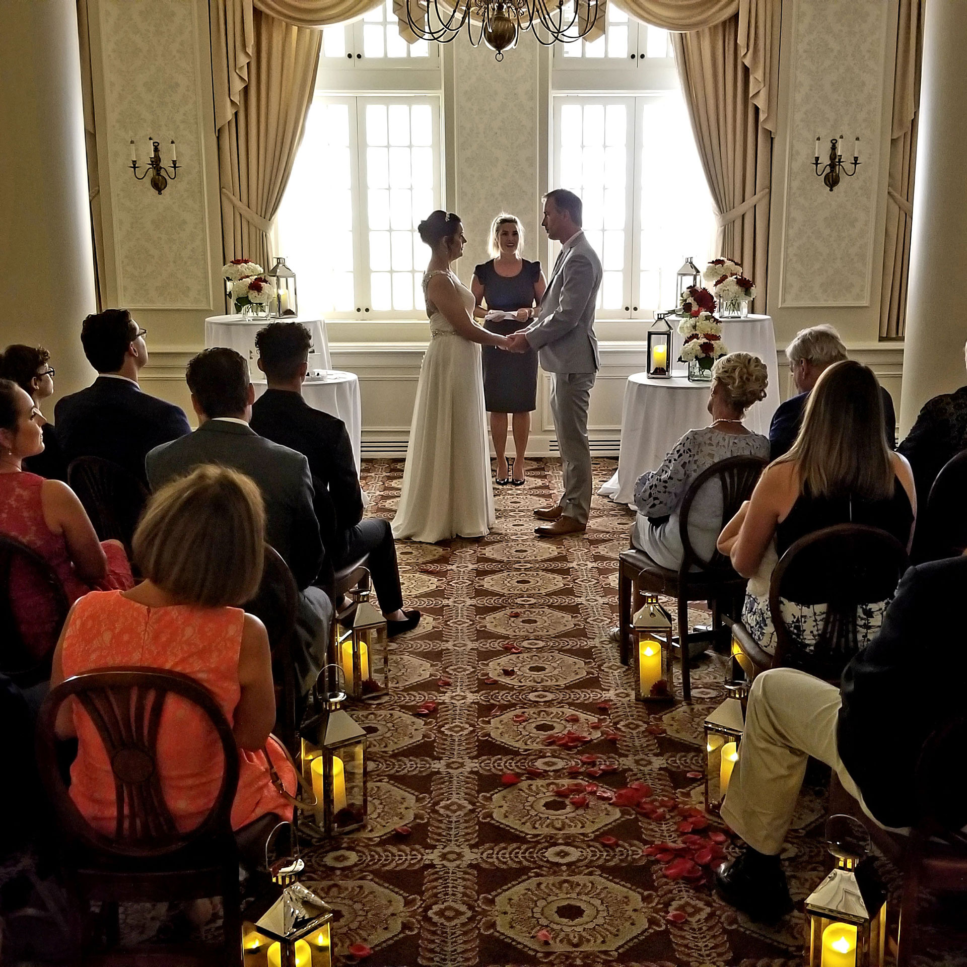 Wedding Ceremony in the L.S. Ayres Tea Room