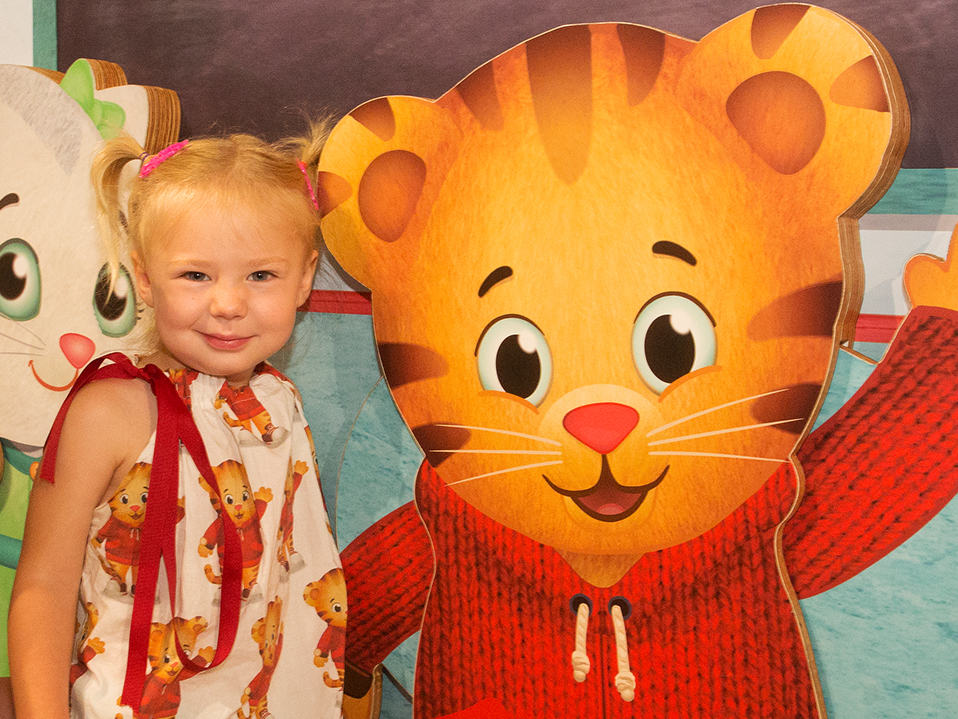 Girl with Daniel Tiger