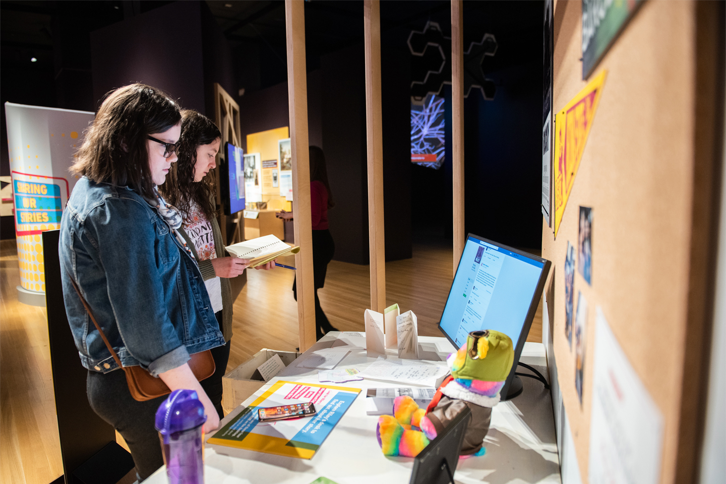 Guests Interacting with Fix Exhibit